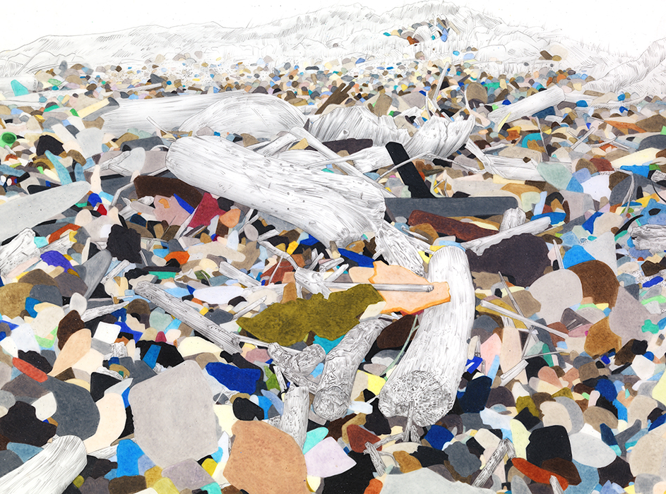 Evelyn Rydz, 'Oceanfront' (detail), 2014, Archival pigment print, 24x72 in.