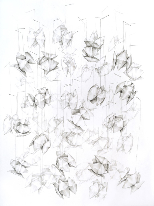 Amelia Hankin, 'Fortune Tellers', 2016, Graphite and pen drawing on archival paper, 30 x 22 in.