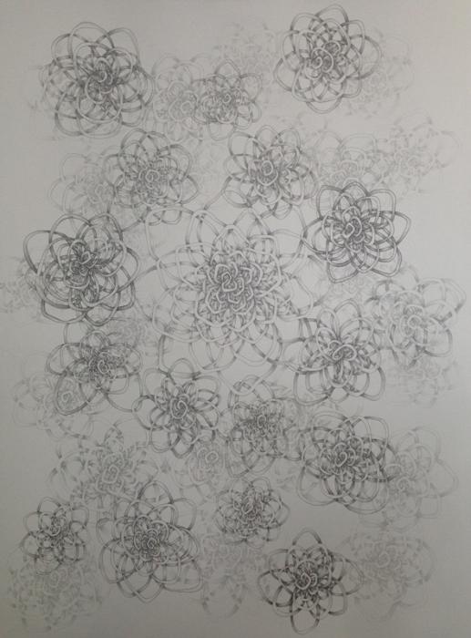 Amelia Hankin, 'Tangled', 2015, Graphite on archival paper, 30 x 22 in.