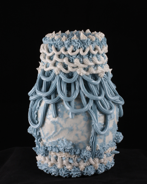 Robert Chamberlin, 'Blue and White Ware 7', Porcelain, Mason stain, 9x6x6 in.