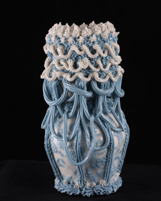Robert Chamberlin, 'Blue and White Ware 8', Porcelain, Mason stain, 8x5x5 in.