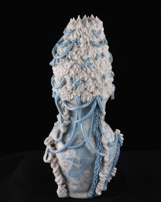 Robert Chamberlin, 'Blue and White Ware 9', Porcelain, Mason stain, 9.5x5x5 in.