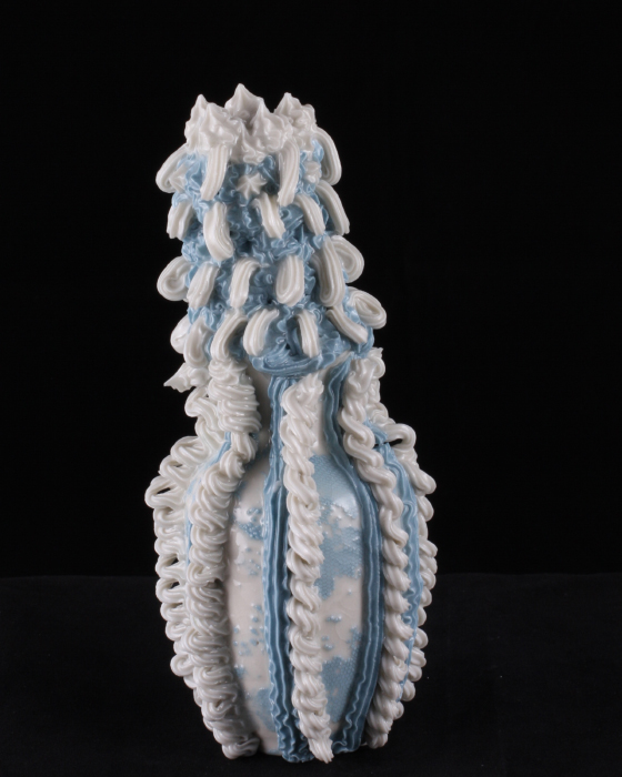 Robert Chamberlin, 'Blue and White Ware 16', Porcelain, Mason stain, 7x3x3 in.