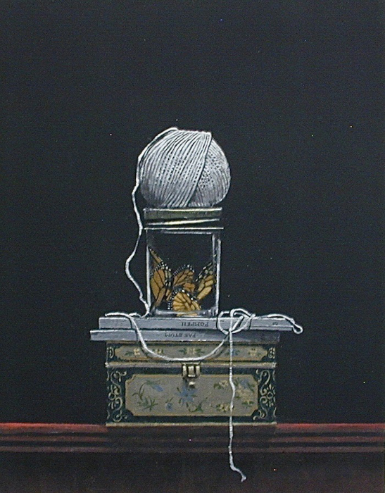 William Ciccariello, 'Ball of String and Butterfly Wings', 2013, Oil on board, 14 x 11 in.