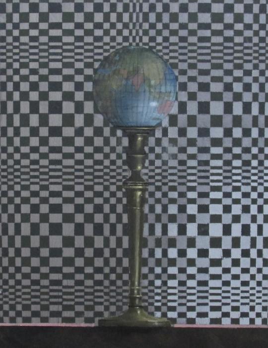 William Ciccariello, 'Globe', 2013, Oil on board, 14 x 11 in.