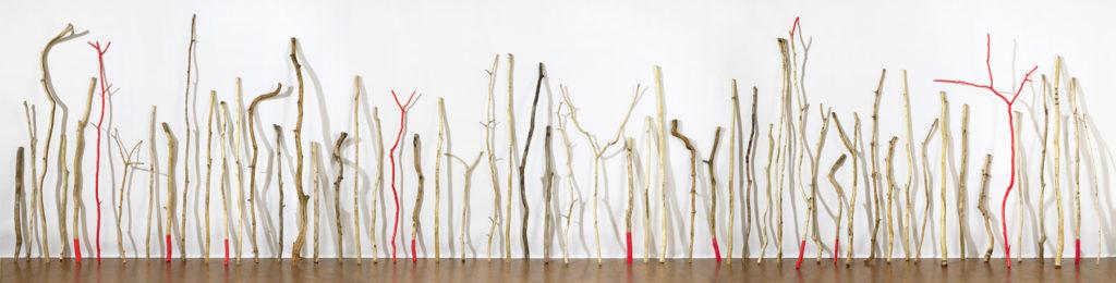 Deb Todd Wheeler, 'Zone of Terrestrial Engagement', 2016, Wood, steel, crystal, pewter, plastic
