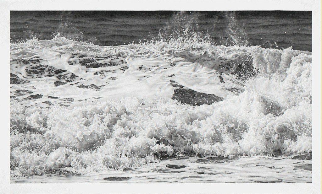 Kay Ruane, 'Wave', 2016, Graphite on board, 36.125x60 in.