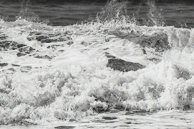 Kay Ruane, 'Wave', 2016, Graphite on board, 36.125x60 in.